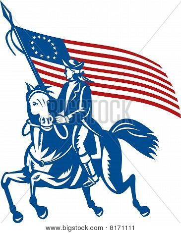 American revolutionary general a riding horse