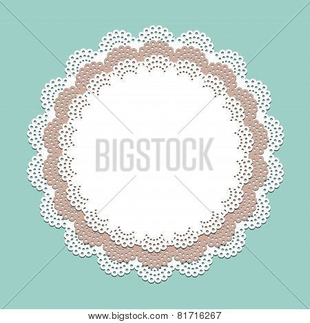 Seamless lace paper napkin