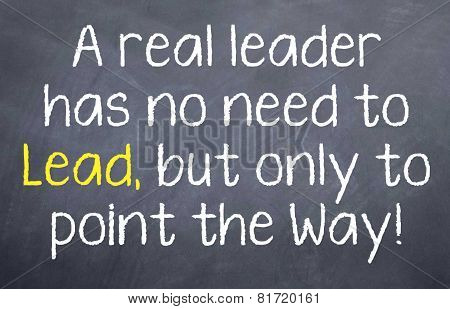 A Real Leader