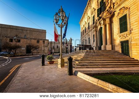 Auberge De Castille Is One Of The Seven Original Auberges Built In Valletta, Malta For The Langues O