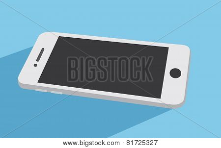 White Smart Phone Vector