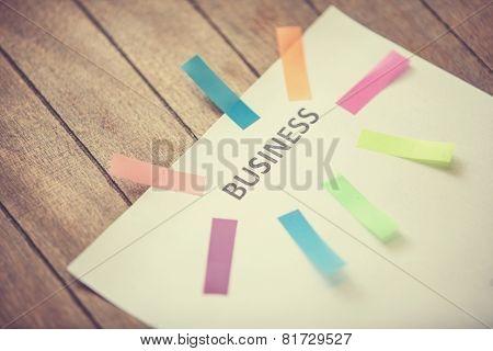 Notes And Paper With Text - Business
