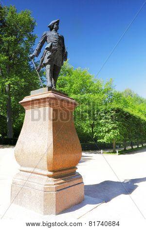 Monument Of Russian Emperor-peter I.st. Petersburg