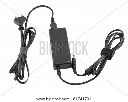 Computer Charger For Notebook (laptop). Isolated
