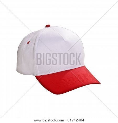 Baseball Cap Red Isolated