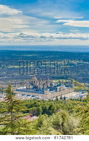 El Escorial Monastery Near Madrid, Spain.