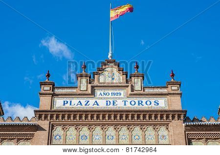 Las Ventas Bullring In Madrid, Spain.