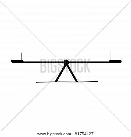 Teeter Black Vector