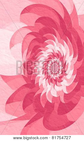 Pink Geometric Flower With Crumpled Texture