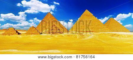 Great Pyramid  Located At Giza .