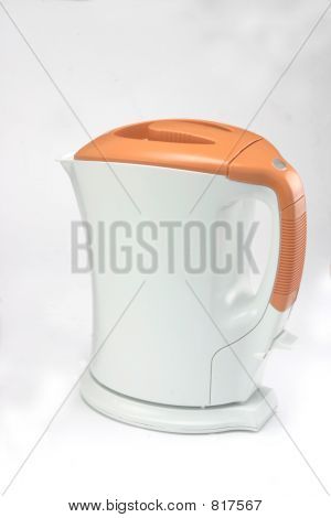 Cordless Electric Orange Jug Kettle