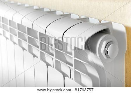 Heating White Radiator Radiator.