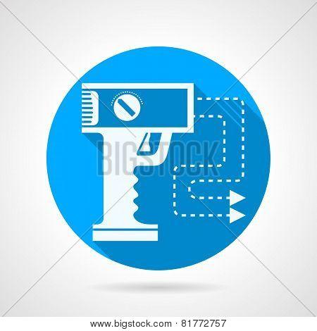 Stun gun flat vector icon