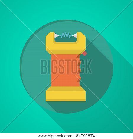Taser flat color icon