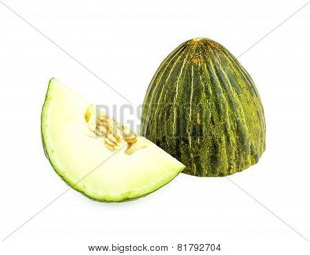 Cut Piel De Sapo Melon Isolated