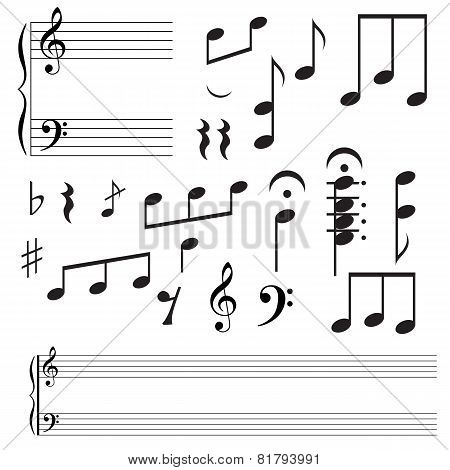 Collection icons  music note.