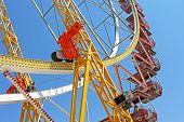 Largest ferris wheel in Ukraine, Odessa, Shevchenko Park poster