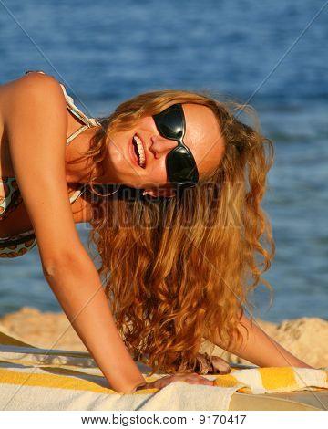 Woman On Chaiselongue
