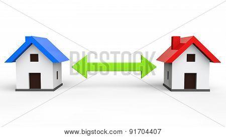3d house exchange concept