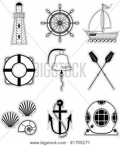 Nautical Elements 1 Sticker Style