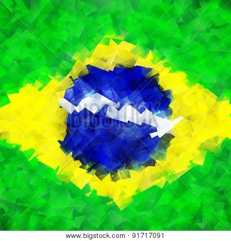 Brazil flag colorful bright background