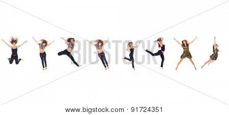 Jumping CONCEPT Hurray to Athlets