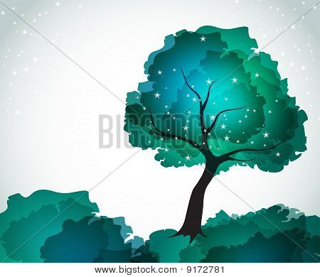 background with tree. summer