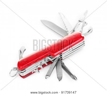 Multipurpose knife isolated on white