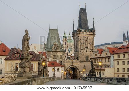 Charles (Karluv) Bridge in Prague (Czech Republic)