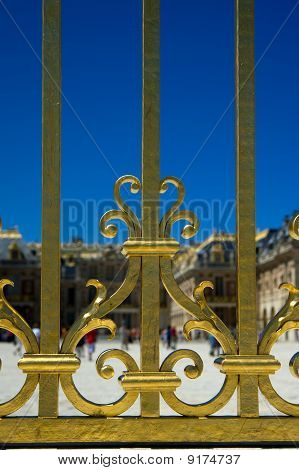 The gate at Versailles Palace in France,Processed from a 14 bit RAW files in SRGB colorspace poster