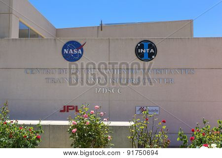 Nasa And Inta Logo At The Madrid Deep Space Communications Complex