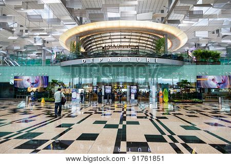 Singapore Changi International Airport Departure Hall