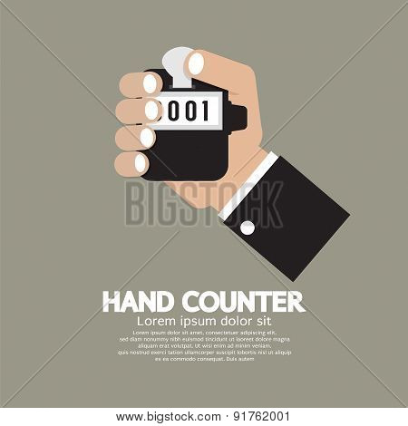 Flat Design Hand Counter.