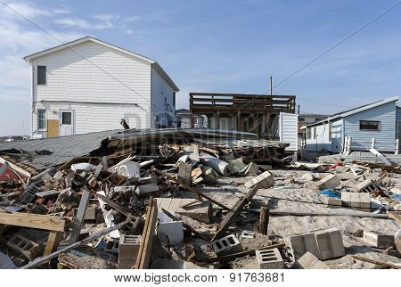 Hurricane Sandy Destruction At Breezy Point - Photo 5