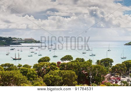 Sailboats At Charlotte Amalie Harbor - St. Thomas, USVI