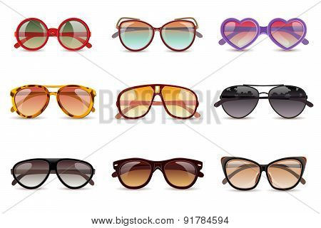 Sunglasses Realistic Set
