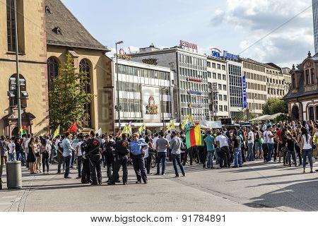 People Demonstrate Against Murder And Violation Of Kurdish People