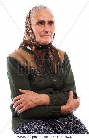 Senior Woman Isolated On White