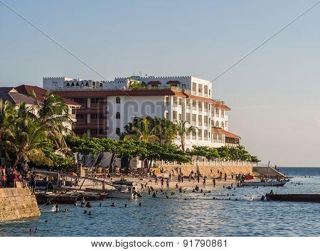 Waterfront in Stone Town, Zanzibar