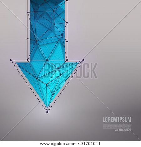 3d vector technology background