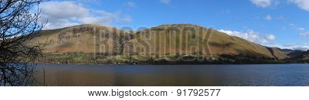 Lake Ullswater and distant Cumbrian Hills and mountain