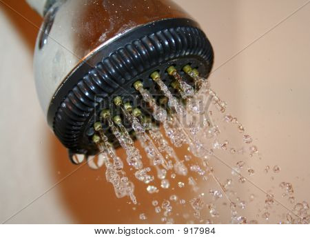 Shower Head Running