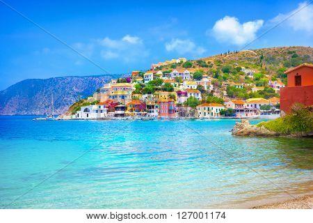Assos beach in Kefalonia, Greece
