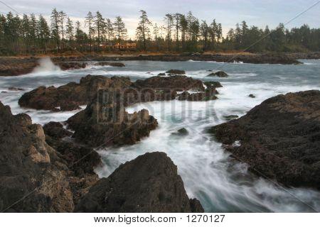 waves crashing west coast vancouver