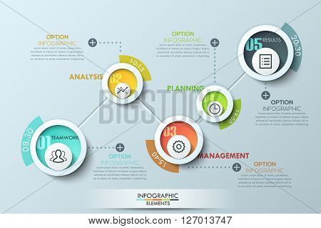 Modern business circle origami style options banner. Vector. can be used for workflow layout, diagram, number options, step up options, web design, infographics, timeline.
