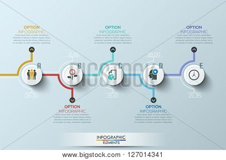 Modern clean business circle origami style timeline banner. Vector. can be used for workflow layout, diagram, number options, step up options, web design, infographics, timeline.