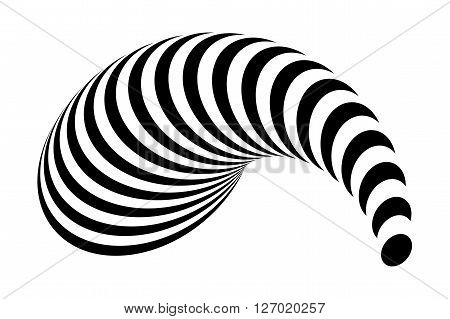 Design Monochrome Illusion Background