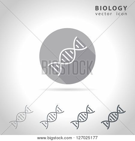 Biology outline icon set collection of dna icons vector illustration