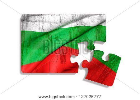 Puzzle Bulgaria Flag