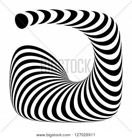 Design Monochrome Geometric Illusion
